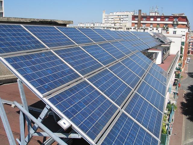 Działające panele słoneczne